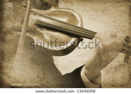 vintage music (special toned great for your design and art-work,made from my photos) - stock photo