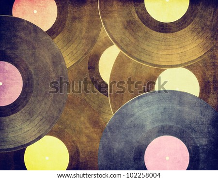 vintage musical background ...