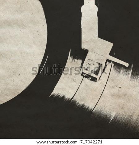 vintage musical background with vinyl LP #717042271