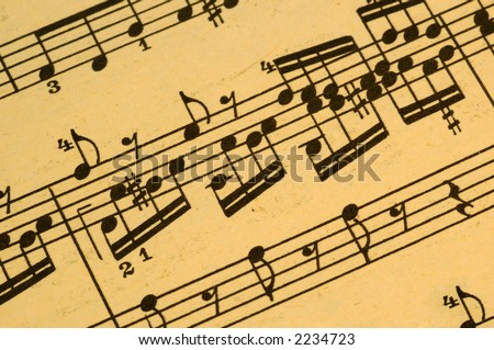 Vintage  Musical Score - Aged and Yellowed