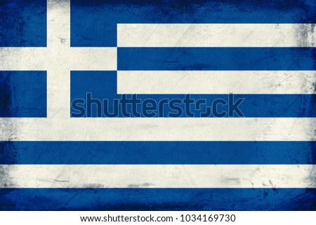 Vintage national flag of Greece background