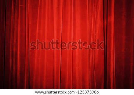 Vintage natural velvet red curtain background texture