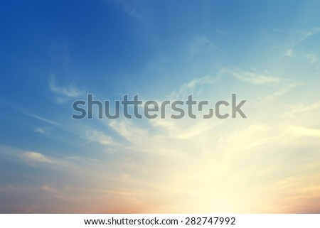 Vintage nature background with sky in sunset  #282747992