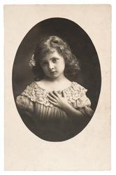 vintage nostalgic portrait of little girl ca. 1920
