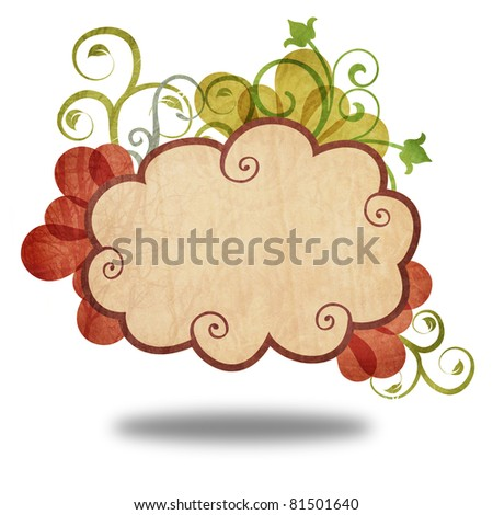 Vintage of cloud icon on colorful flower create by recycle paper craft stick