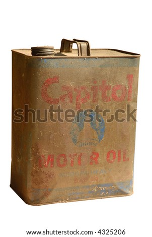 Vintage Oil Can isolated on white
