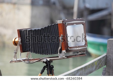 Vintage old big format camera