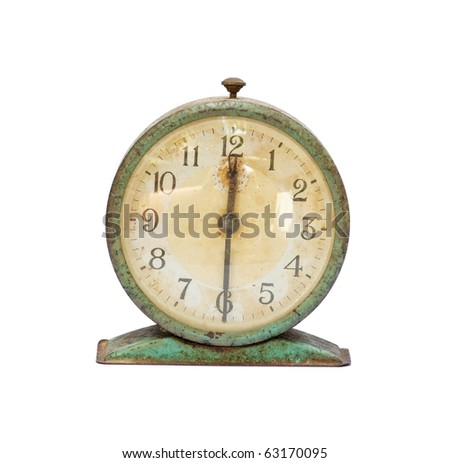 vintage old clock isolated #63170095