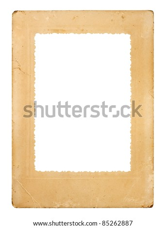 Vintage old frame, isolated on white