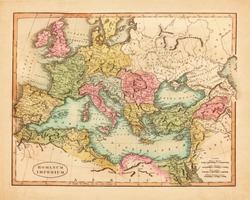 Vintage old map of Europe published in 1811