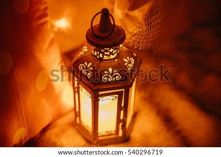 Vintage old metal lamp.New year #540296719