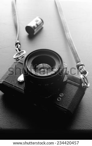 vintage old 35mm film camera