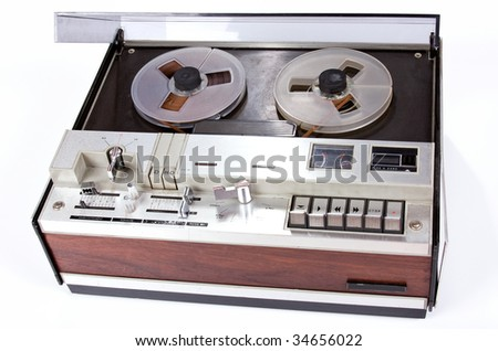 vintage old music object on white background