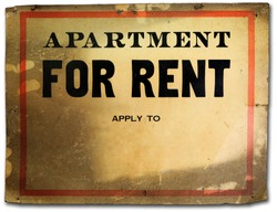 Vintage old paper apartment for rent