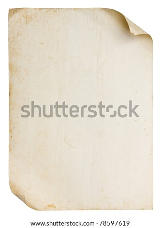 Vintage old paper texture - stock photo