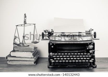 vintage old typewriter  scales...