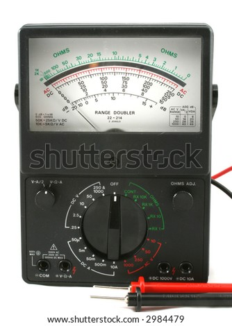 vintage older analog vom - multimeter