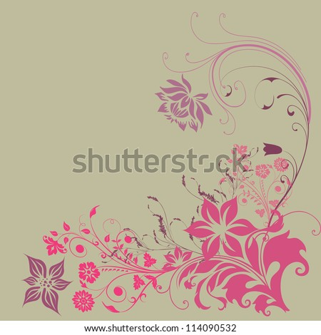 vintage on a light background in pink patterns - stock photo