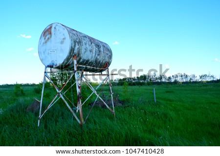 vintage or old water tank...