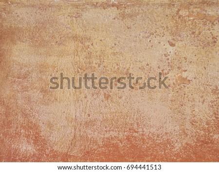 vintage orange plaster