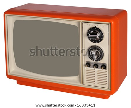 Vintage orange TV set