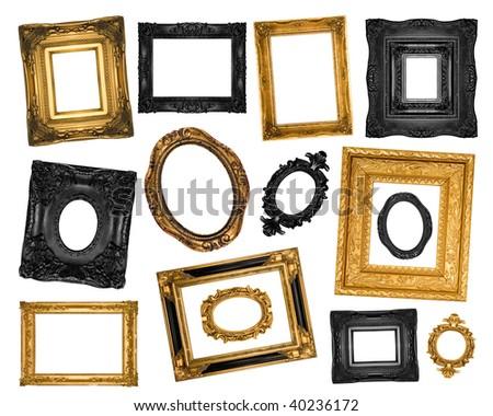 Vintage ornate frames