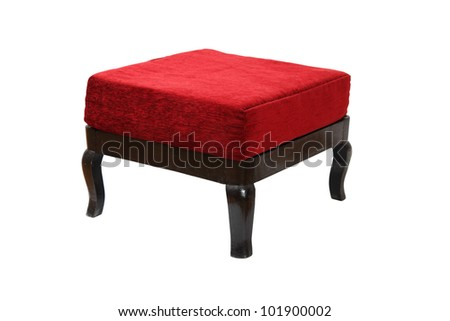 Vintage Ottoman. Isolated with clipping path.