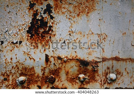 Vintage painted metal with rust texture, Rust metal from the old train container background