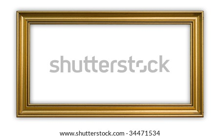 Vintage panoramic frame on white background, clipping path included