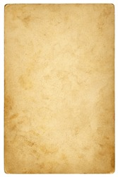 Vintage paper background isolated - (clipping path included)