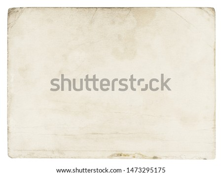 Vintage paper background isolated - (clipping path included) #1473295175
