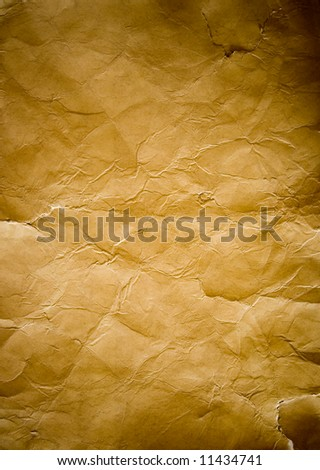 Vintage paper background isolated on white