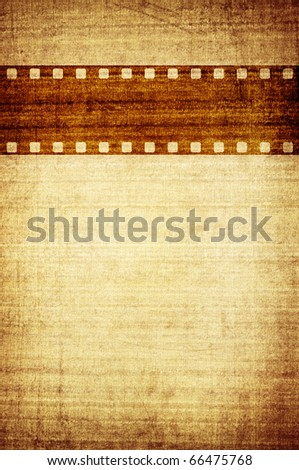 vintage paper cover with film stripe and space for you title