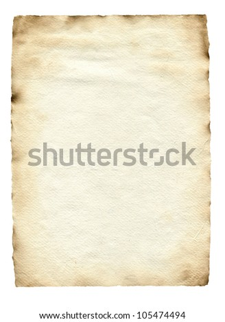 vintage paper isolated