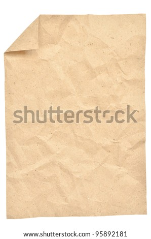 Vintage paper isolated on white