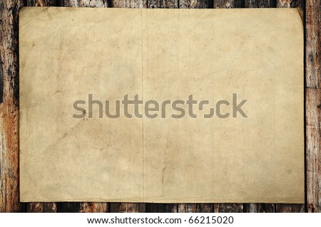 vintage paper on old wood texture - Shutterstock ID 66215020