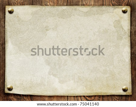 vintage paper on wooden background