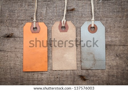 vintage paper tags and labels