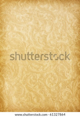 vintage  paper textures.  Aged paper with floral ornament
