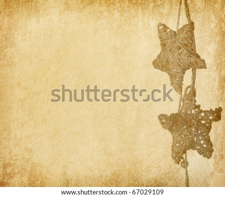 vintage  paper textures.    Christmas Decoration - stock photo
