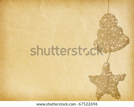 vintage  paper textures.   Decoration for Christmas tree