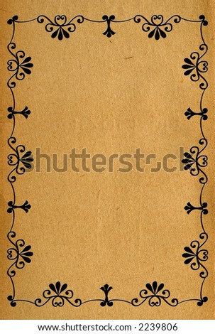 Vintage paper with frame decoration    good for note-paper