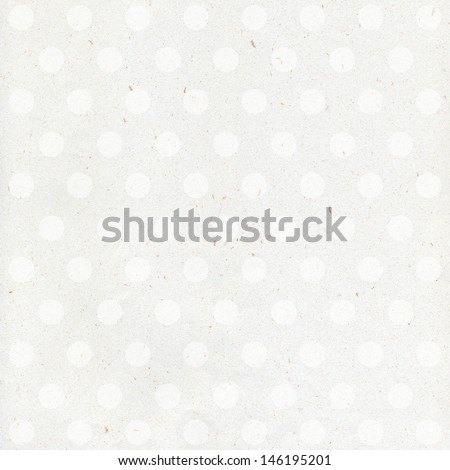 Vintage paper with polka dots. Abstract white paper background