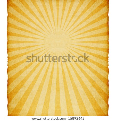 Vintage paper with sunburst.