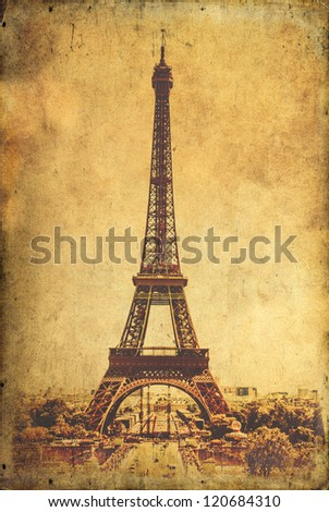 Vintage Paris postcard-Eiffel Tower