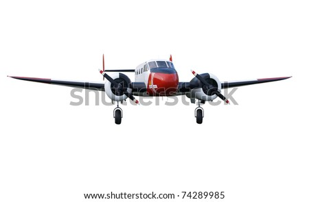 Vintage Passenger Aircraft isolated with clipping path