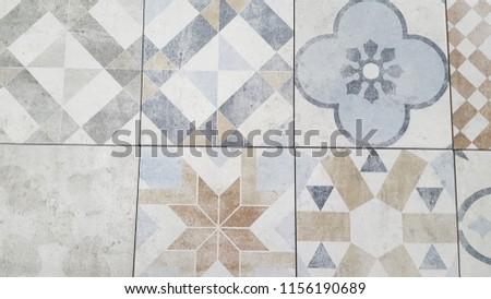 Vintage pattern Traditional ornate portuguese tiles azulejos #1156190689