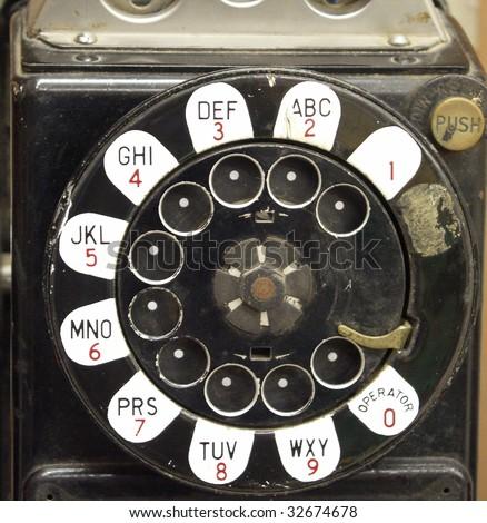 Vintage payphone detail #32674678