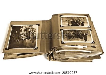 vintage photo album