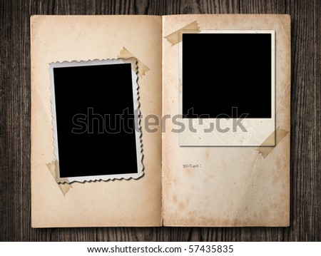 Vintage photo album, with copy space, clipping path.